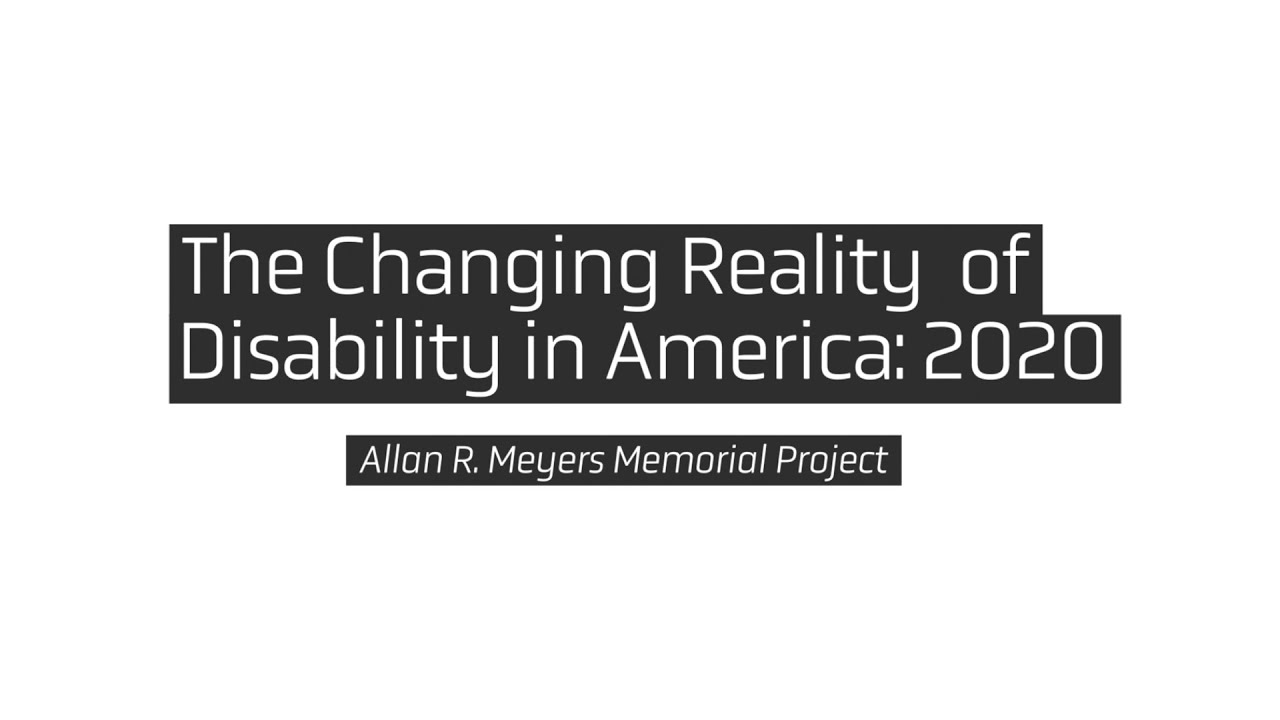 "The Institute of Human Centered Design released ""The Changing Reality of Disability in America: 2020"""